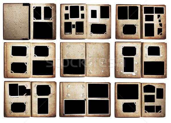 Vieja foto establecer aislado blanco libro fondo Foto stock © Avlntn