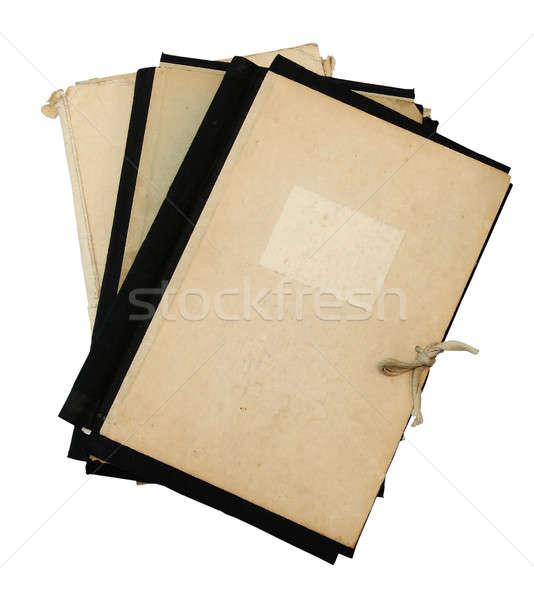 stack of old folders Stock photo © Avlntn
