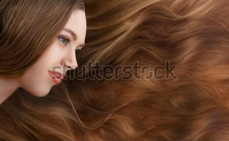 Meisje lang blond haren mooi meisje natuurlijke Stockfoto © Avlntn