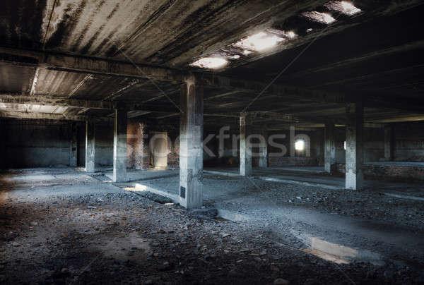 古い 捨てられた 建物 インテリア 建設 壁 ストックフォト © Avlntn
