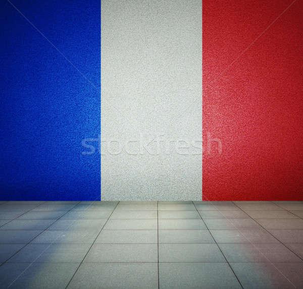 フラグ の空室 フランス語 共和国 壁 スタジオ ストックフォト © Avlntn