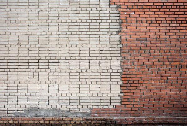 старые кирпичная стена текстуры стены городского красный Сток-фото © Avlntn