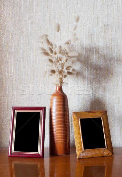 Vintage hout frame tabel bureau interieur Stockfoto © Avlntn