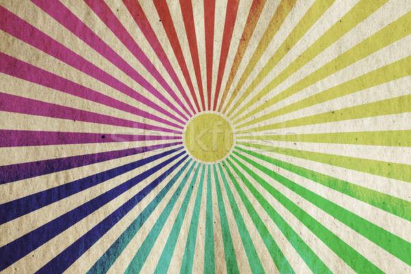 ストックフォト: ヴィンテージ · 太陽 · 日光 · 古い · グランジ · 紙