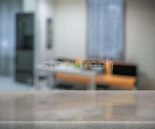 таблице кухне деревянный стол стены дизайна домой Сток-фото © Avlntn