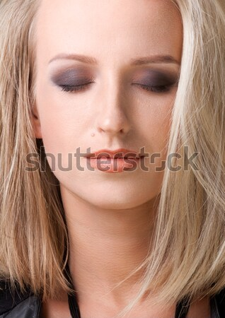 close up portrait of blond woman Stock photo © Avlntn
