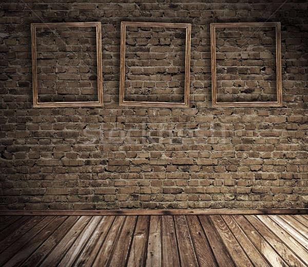 старые Гранж интерьер кадры стены дизайна Сток-фото © Avlntn
