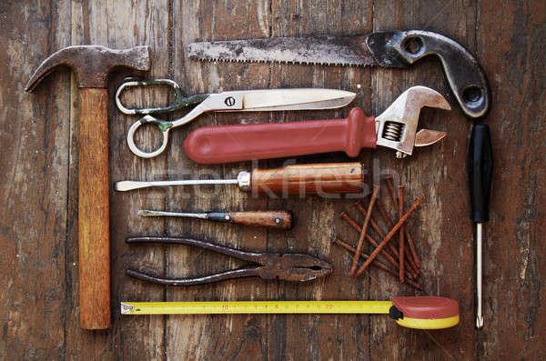 Strumenti legno muro legno lavoro strumento Foto d'archivio © Avlntn