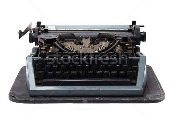 Vintage schrijfmachine geïsoleerd witte toetsenbord ruimte Stockfoto © Avlntn