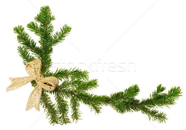 Navidad decoración aislado blanco árbol fondo Foto stock © Avlntn