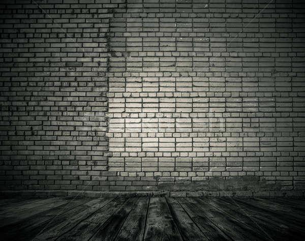 Vecchio stanza muro di mattoni vintage casa luce Foto d'archivio © Avlntn