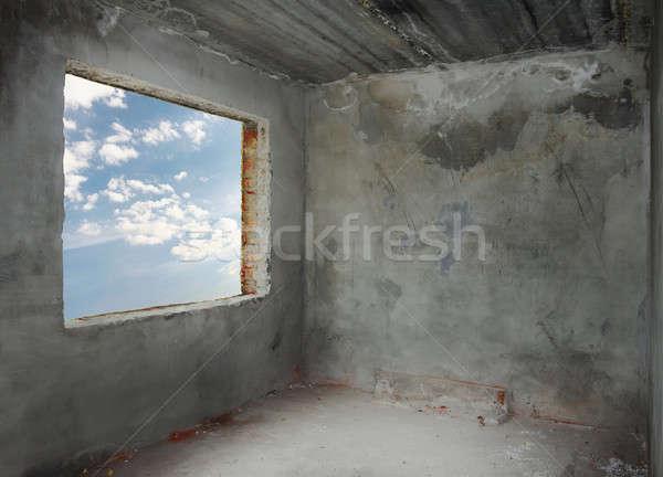 具体的な ルーム ウィンドウ コーナー 古い 青空 ストックフォト © Avlntn
