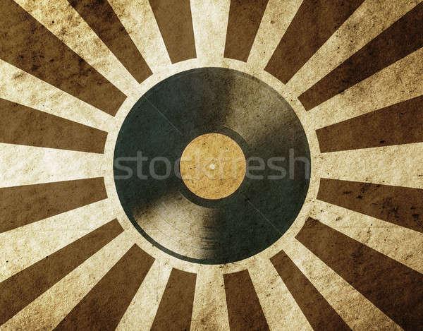 Vintage musical vinyl lp papier textuur Stockfoto © Avlntn