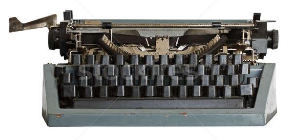 ヴィンテージ タイプライター 孤立した 白 金属 スペース ストックフォト © Avlntn
