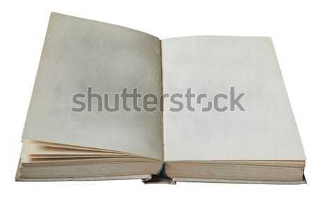 開いた本 孤立した 白 図書 教育 ストックフォト © Avlntn