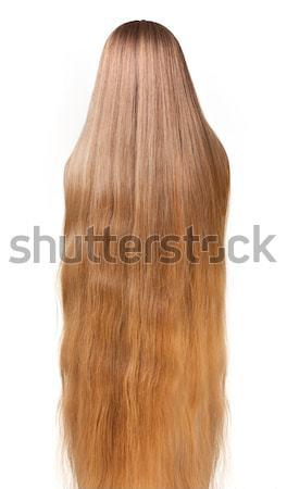 Lungo capelli biondi isolato bianco naturale texture Foto d'archivio © Avlntn