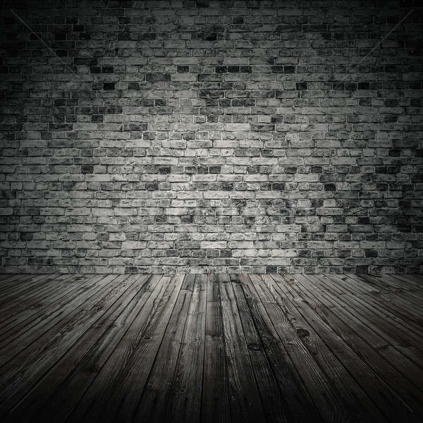 Eski oda tuğla duvar bağbozumu ev duvar Stok fotoğraf © Avlntn