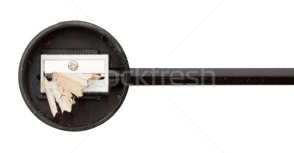 Potlood puntenslijper geïsoleerd hout mes Stockfoto © Avlntn