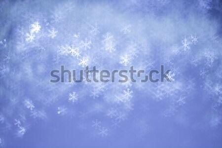 Fiocchi di neve bokeh offuscata inverno Natale texture Foto d'archivio © Avlntn