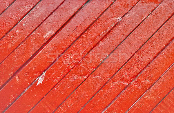 Oude houten muur geschilderd Rood hout Stockfoto © Avlntn