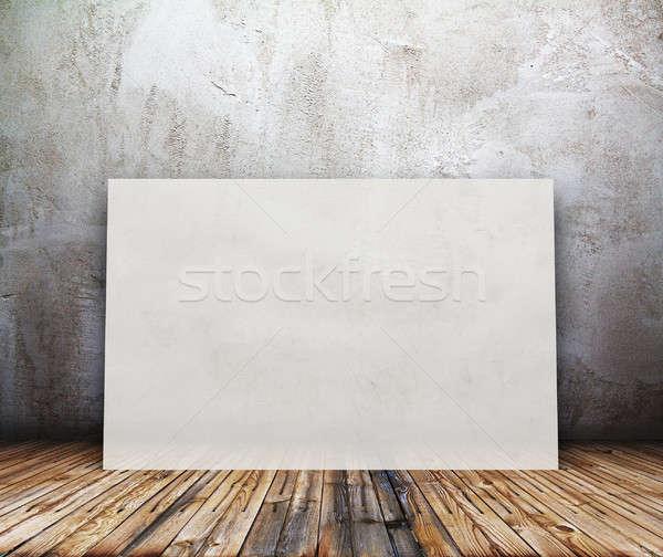 Billboard oude kamer business papier Stockfoto © Avlntn