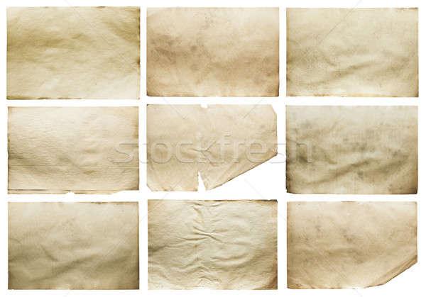 Vecchio giornali set isolato bianco Foto d'archivio © Avlntn
