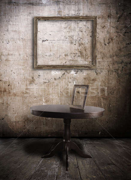 таблице старые Гранж интерьер дома стены Сток-фото © Avlntn