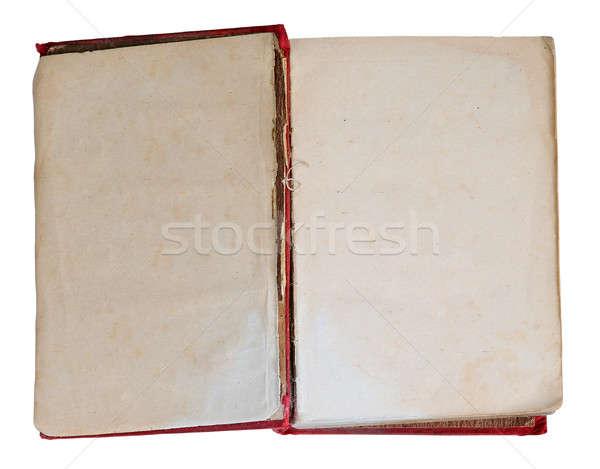 открытой книгой изолированный белый книга образование Сток-фото © Avlntn