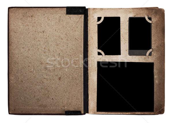 Régi fotó album izolált fehér könyv háttér Stock fotó © Avlntn