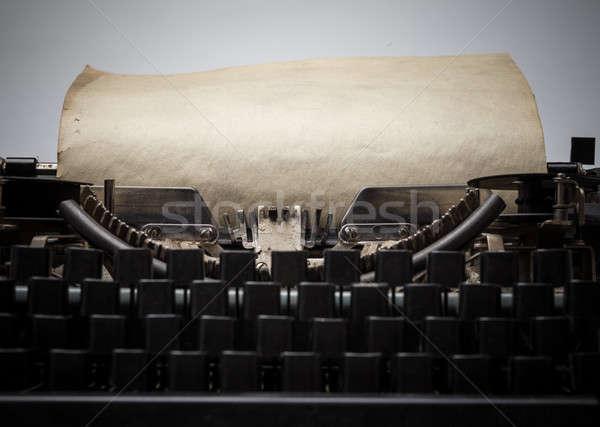 Eski daktilo Retro kâğıt teknoloji uzay Stok fotoğraf © Avlntn