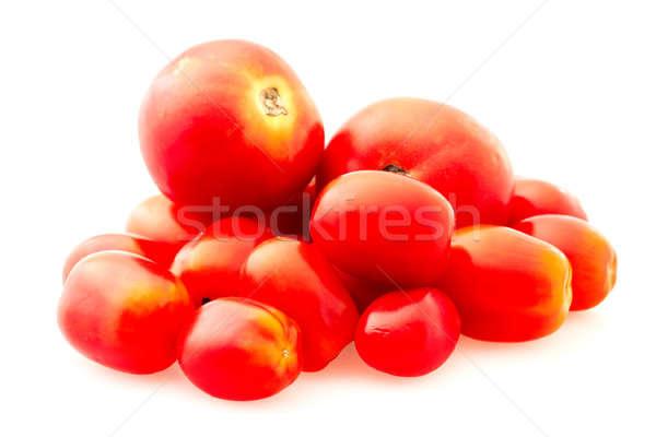 Tomaten witte kers landbouw plantaardige vers Stockfoto © Avlntn