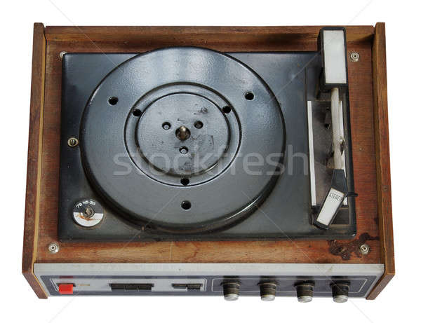 old record-player isolated on white background Stock photo © Avlntn