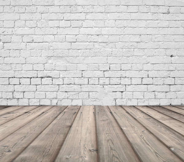 古い ルーム レンガの壁 ヴィンテージ 家 木材 ストックフォト © Avlntn