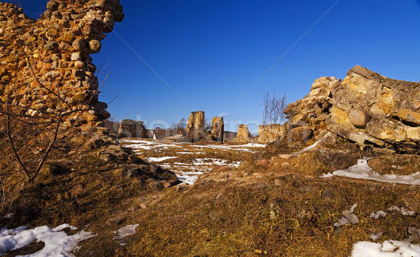 遺跡 村 建物 壁 自然 ストックフォト © avq