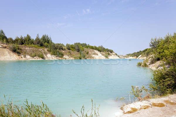 искусственный озеро воды весны природы синий Сток-фото © avq
