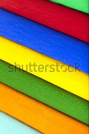 Krepa papieru kolorowy budowy zielone niebieski Zdjęcia stock © avq