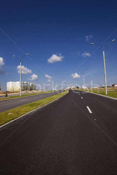 Nowego drogowego dzielnica miasta budowy niebo Zdjęcia stock © avq