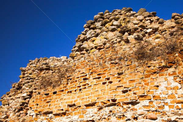 Fal romok elpusztított erőd textúra fitnessz Stock fotó © avq