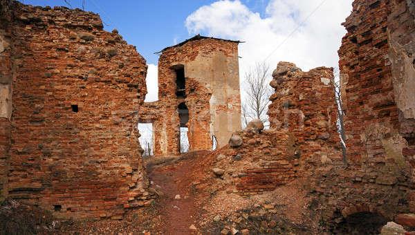 Ruínas antigo aldeia edifício cidade Foto stock © avq