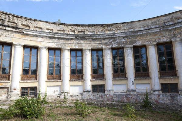 Terkedilmiş eski bina eski Bina köy Belarus Stok fotoğraf © avq