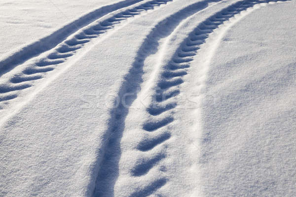 道路 冬 雪 トラック 閉店 ホイール ストックフォト © avq