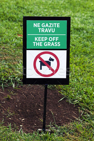 sign on a grass   Stock photo © avq