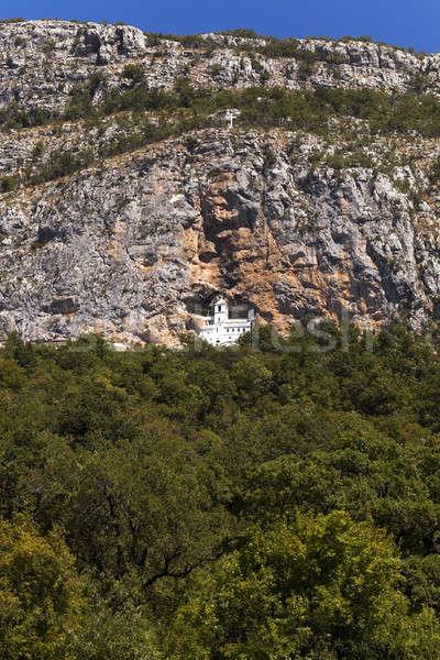 山 修道院 山 モンテネグロ 森林 自然 ストックフォト © avq
