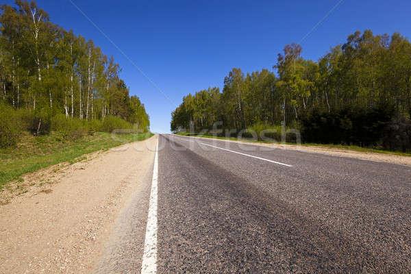 дороги небольшой сельский летнее время год Беларусь Сток-фото © avq