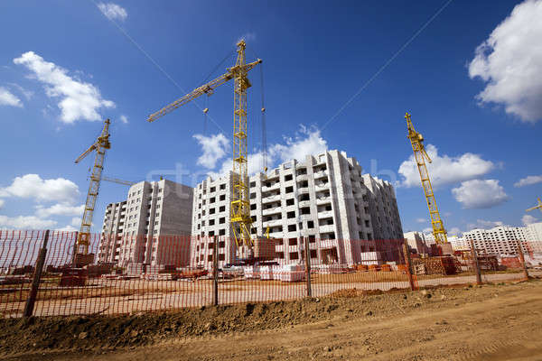 строительство строительная площадка новых дома Сток-фото © avq