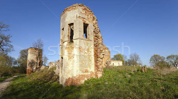 ruins   Belarus. Stock photo © avq