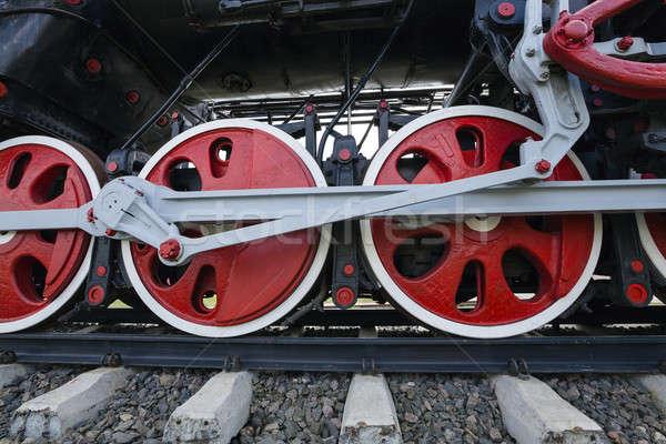Roues vieux train industrielle machine Photo stock © avq