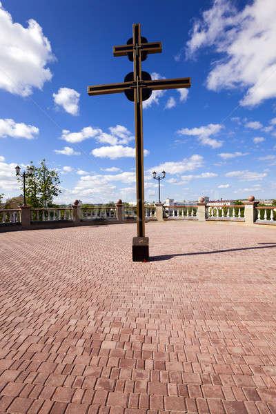 Церкви Беларусь город небе лет Сток-фото © avq