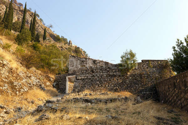 Eski şehir ören Karadağ Bina Stok fotoğraf © avq