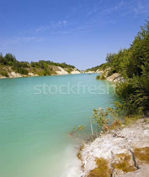 人工的な 湖 空 ツリー 自然 ストックフォト © avq